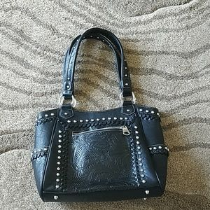 Montana West Black Leather purse